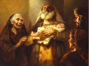 Simeon Anna and Baby Jesus