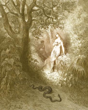 Eve and the Serpent Dore